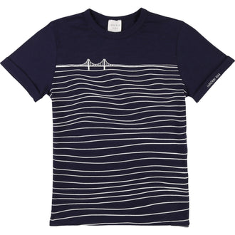 Blue Wavy Stripes Tee