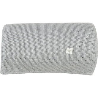 Light Grey Knit Blanket