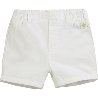 White Cotton Shorts