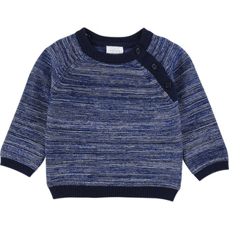 Navy Patterned Sweater