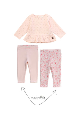 Light Pink Dots Legging Set