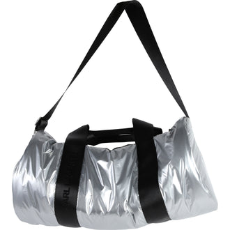 Silver Duffle Bag