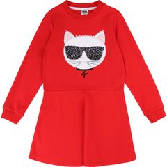 Red Sequin Choupette Dress