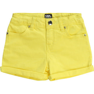 Yellow Logo Shorts