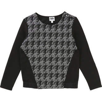 Black Tweed Sweatshirt