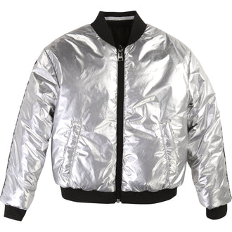 Black/Silver Reversible Bomber Jacket