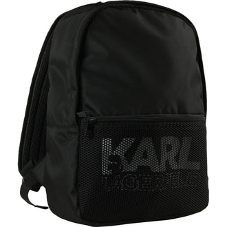 Black Mesh Detail Backpack