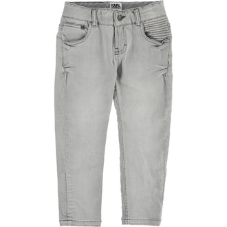 Grey Skinny Denim Pants