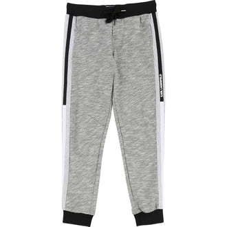 Black/Grey Colored Trim Sweat Pants