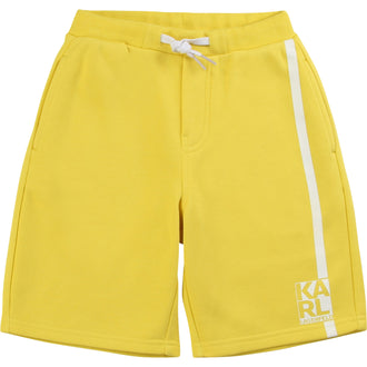 Yellow Logo Detail Shorts