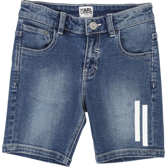Denim Blue Bermuda Shorts