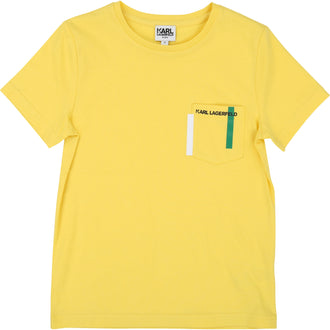 Yellow Small Graphic Chest Pocket Tee