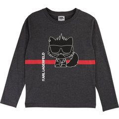 Grey Cat Graphic Tee