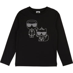 Black Karl & Cat Tee