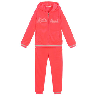 Rose Fluo Velour Jogging Set