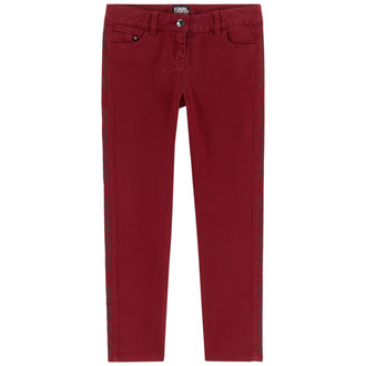 Bordeaux Branded Pants