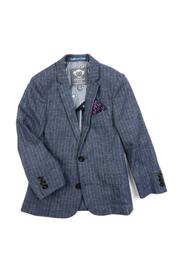 Chambray Stripe Sport Jacket