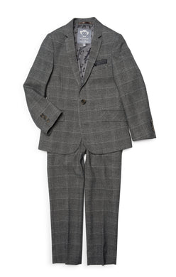 Charcoal Glen Check 2 Pc Suit