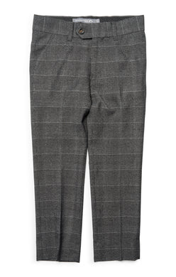 Charcoal Glen Check Suit Pant