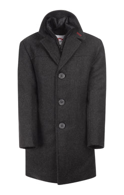 City Herringbone Overcoat