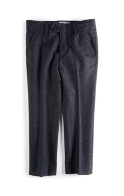 Charcoal Tailored Wool Pants