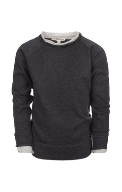 Jackson Roll Neck Charcoal Sweater