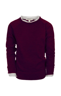 Jackson Roll Neck Maroon Sweater