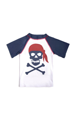 Navy Blue Pirate Rash Guard