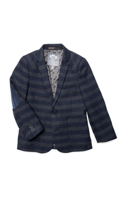 Navy & Grey Stripe Professor Blazer