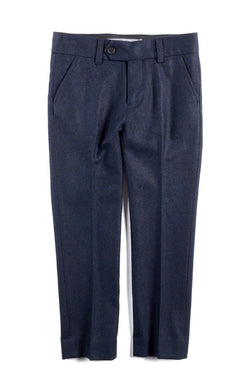 Navy Tailored Wool Pants