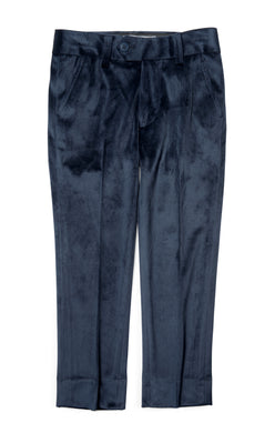 Peacoat Velvet Suit Pants