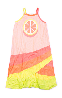 Speckled Citrus Carissa Lemon Dress