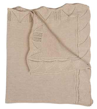 Beige Knit Blanket