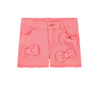 Neon Pink Bow Shorts