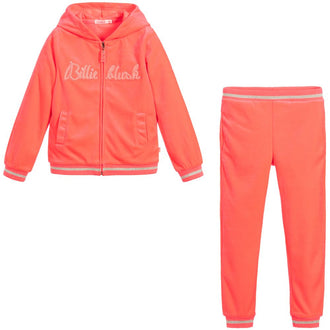 Neon Pink Velour Jogging Set