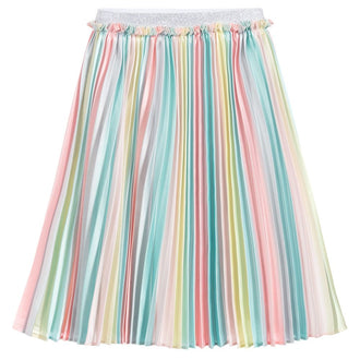 Pastel Rainbow Skirt With Knife Pleats