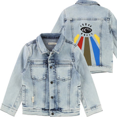 Blue Graphic Jean Jacket