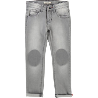 Grey Faded Knee Patch Pants