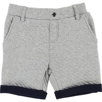 Grey Quilted Sweat Shorts