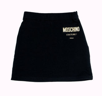 Black Logo Skirt