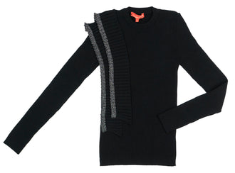 Black Silver Trim Sweater