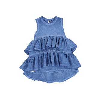 Blue Wave Colddye Dress