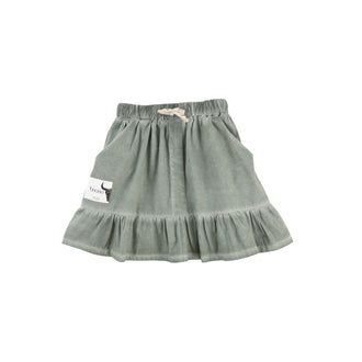 Dark Green Frill Skirt
