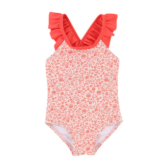 Red Floral Swimsuit