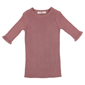 Deep Rose Crewneck Henley