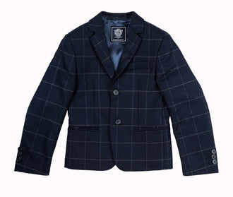 Navy Plaid Blazer