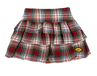 Dana Cherry Flannel Skirt