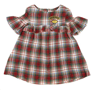 Dima Cherry Flannel Dress