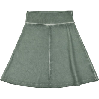 Sage Blue Ribbed Skirt