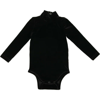 Black Velour Onesie